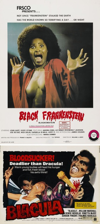Blackenstein - aka Black Frankenstein - 197   Blacula - 197