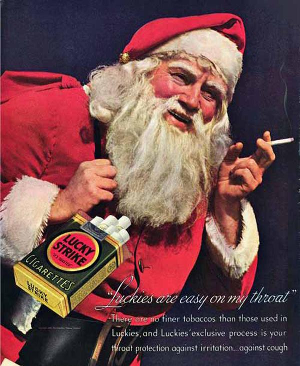 Creepy Santa recommends Luck Strikes