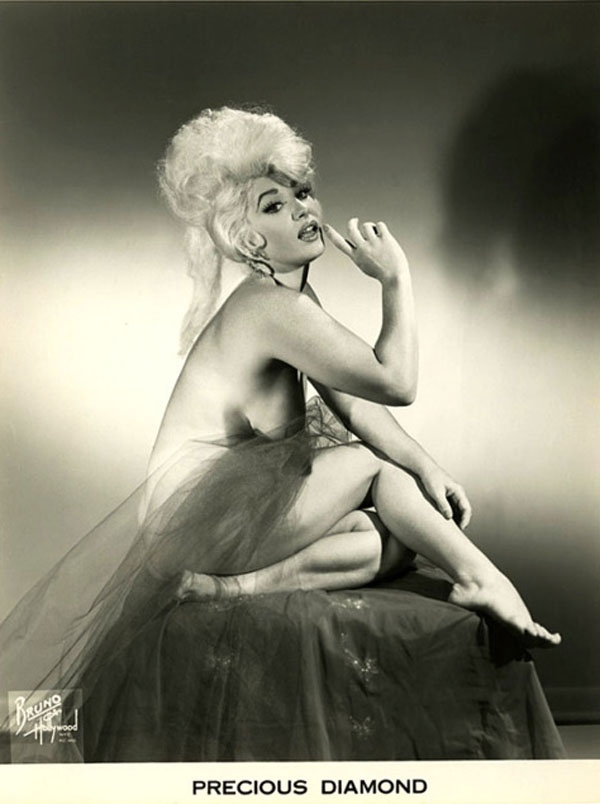 Dolly young busty leggy burlesque stripper vintage orig photo fishnet stockings