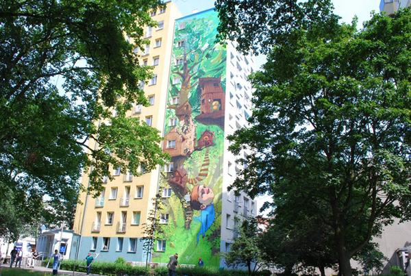 Etam Cru - 10 Story Mural