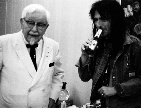 Colonel Sanders and Alice Cooper