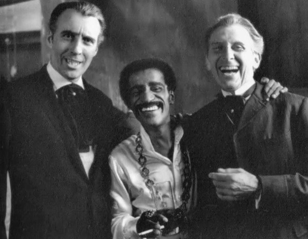 Christopher Lee, Sammy Davis Jr. & Peter Cushing