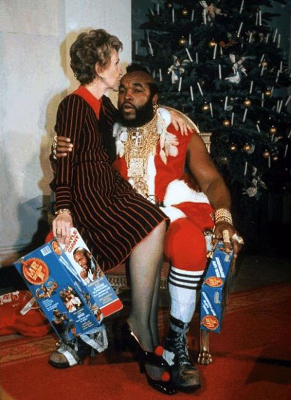 Nancy Reagan and Mr. T.
