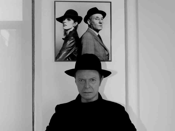 Promo with photo of William S. Burroughs & Bowie