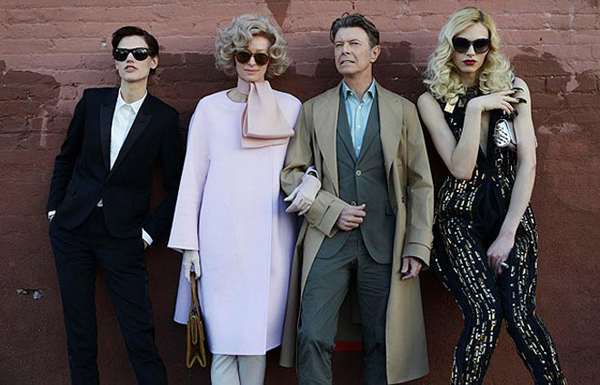 "The cast of video ""The Stars are Out Tonight"". Tilda Swinton 2nd left"