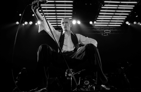 David Bowie On Stage At Wembley