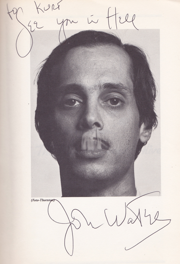 'See You in Hell' - John Waters