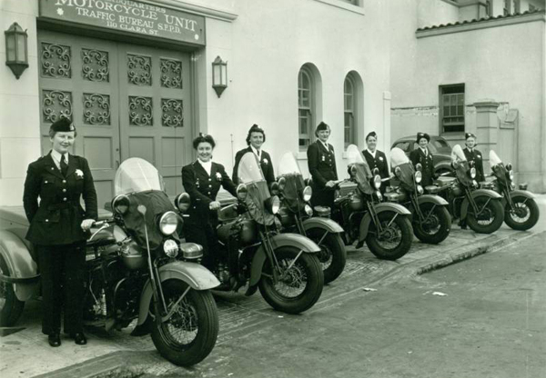 San Francisco Womens Motorcycle Unit - 1940