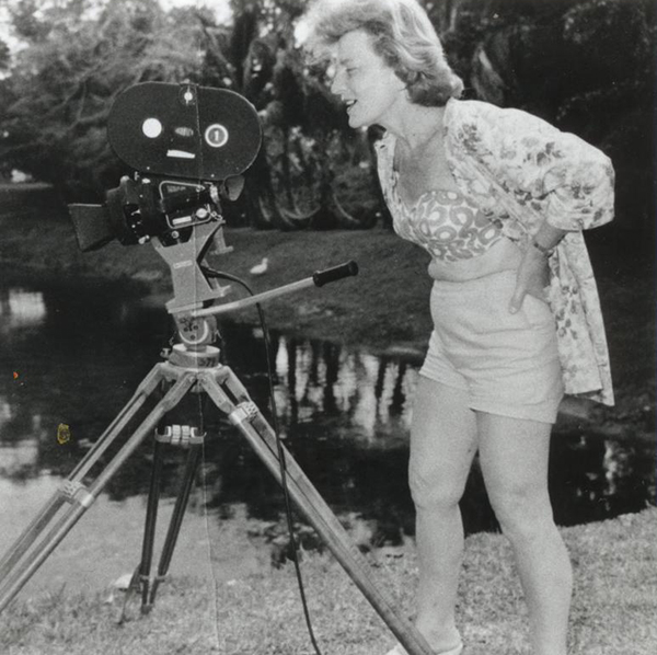 Doris behind the camera
