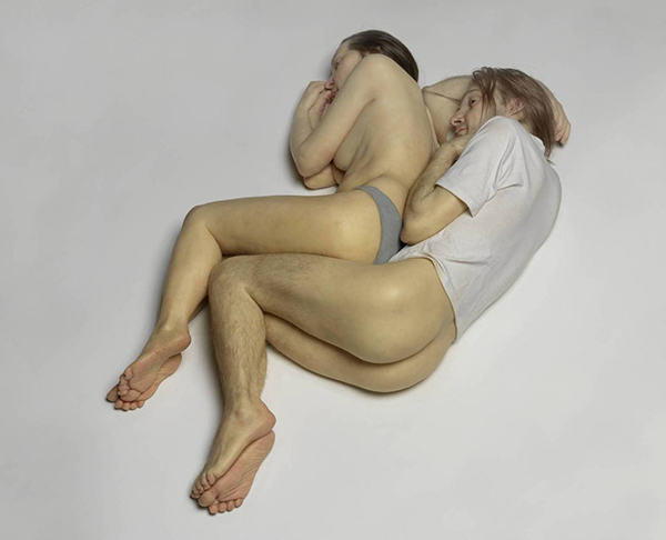 Spooning Couple 2005 by Ron Mueck born 1958