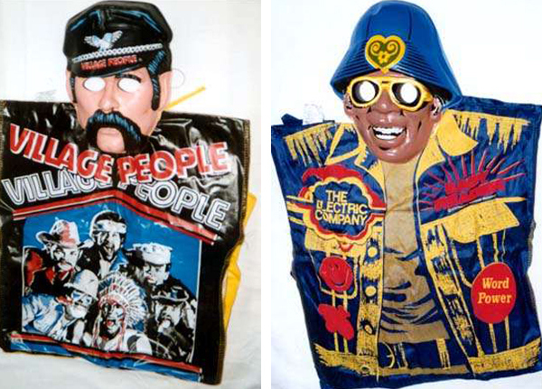 Village People Leather Dude & Morgan Freeman from The Electric Co.