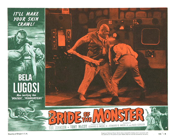 """Bride of the Monster"" Lobby Card"