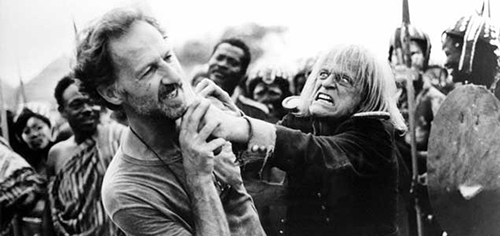 Trying to kill Werner Herzog on the set of Acquire...