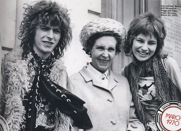 David Bowie and his mum; Peggy