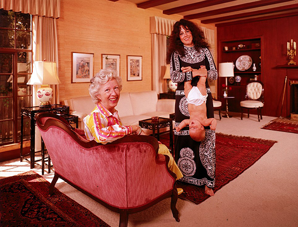 Grace Slick w/ Virginia Barnett & China Kantner (upside down)