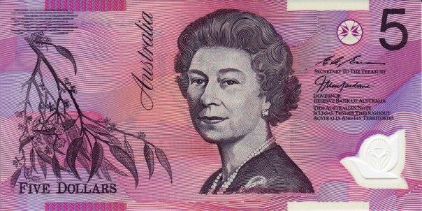 Australia, $5.00, Age 58