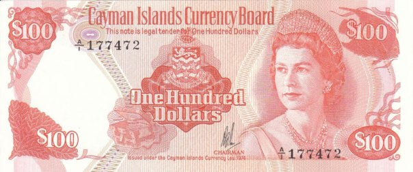Cayman Islands, $100, Age 34