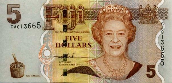 Fiji, $5.00, Age 73