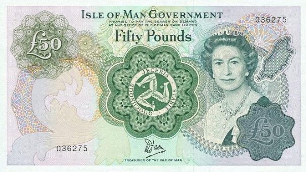 Isle of Man, 50 Pounds, Age 50