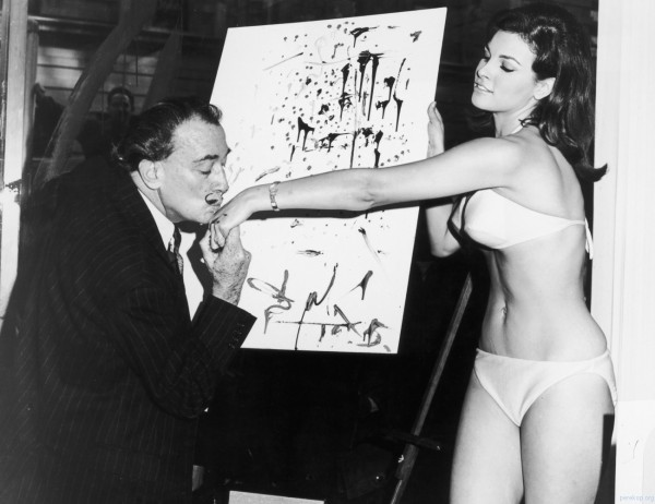 With Salvadore Dali