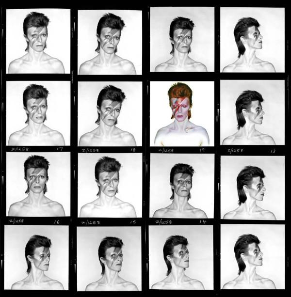 David Bowie - Alladin Sane album cover test sheet