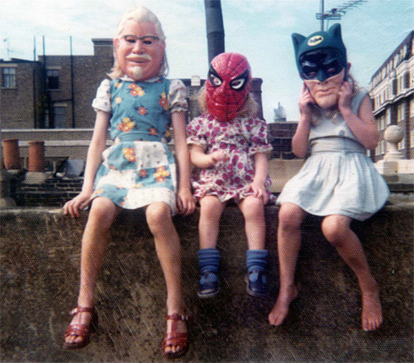 KFC's Colonel Sanders, Spiderman and Batman