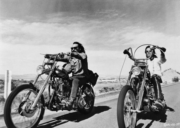 "Dennis Hopper & Peter Fonda from ""Easy Rider"""