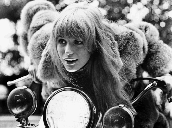 """Marianne Faithfull from """"Girl on a Motorcycle"""""""