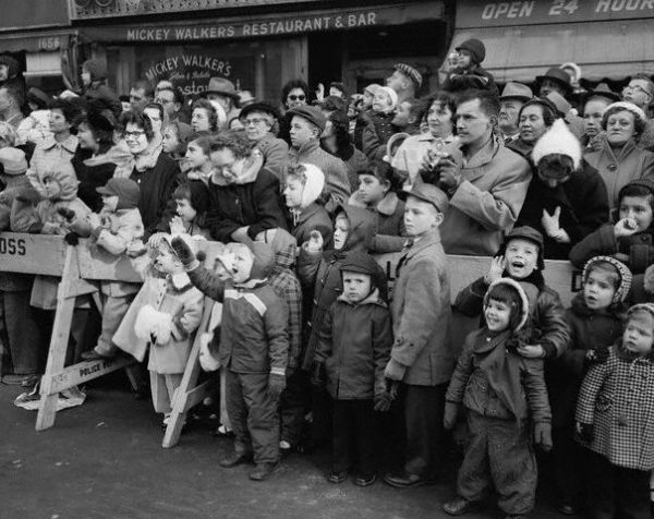 Crowd Watching the Macy's Thanksgiving Parade