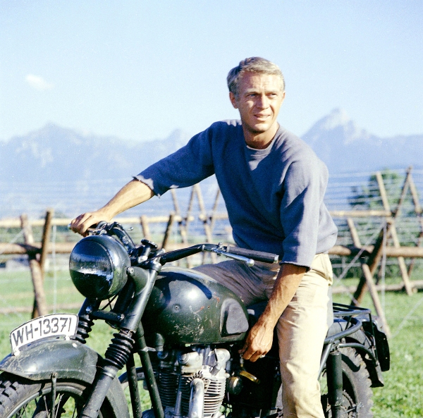 """Steve McQueen  from """"The Great Escape"""""""