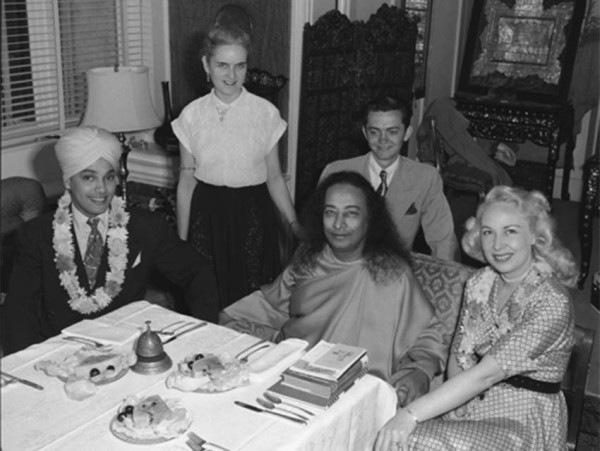 With Paramahansa Yogananda