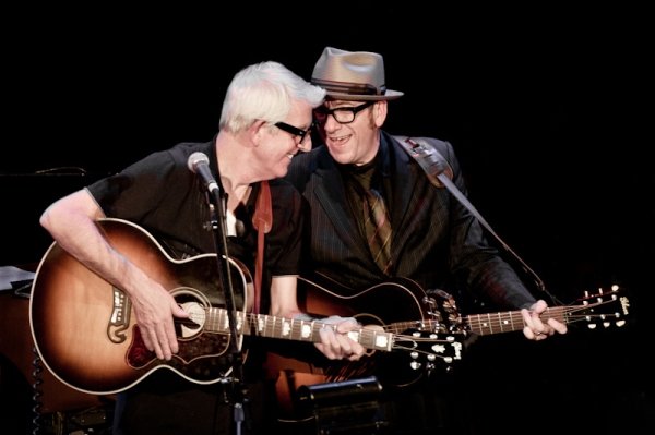 With old mate Elvis Costello