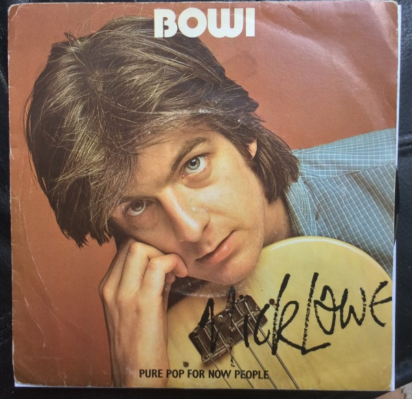 "David Bowie released his LP ""Low"". Nick Lowe promptly released a single called ""Bowi"""