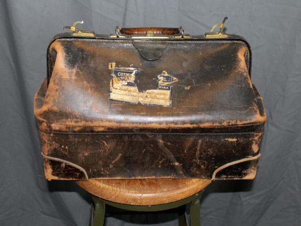 Antique Leather Dr.'s Bag