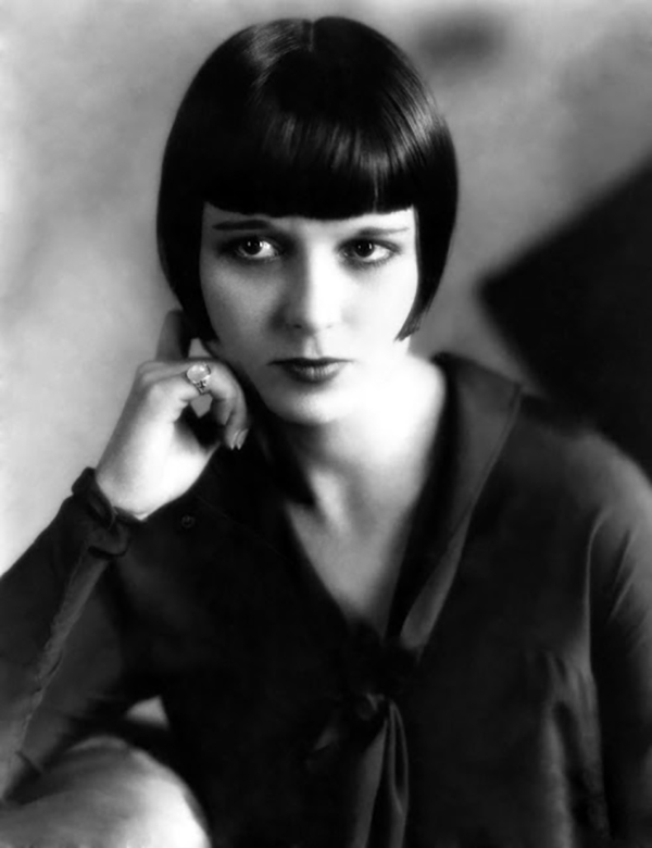 1925: American star of the silent movie era, Louise Brooks.