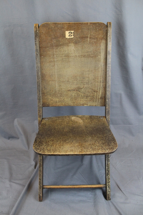 Vintage Wood Theater Chairs - Set of 6