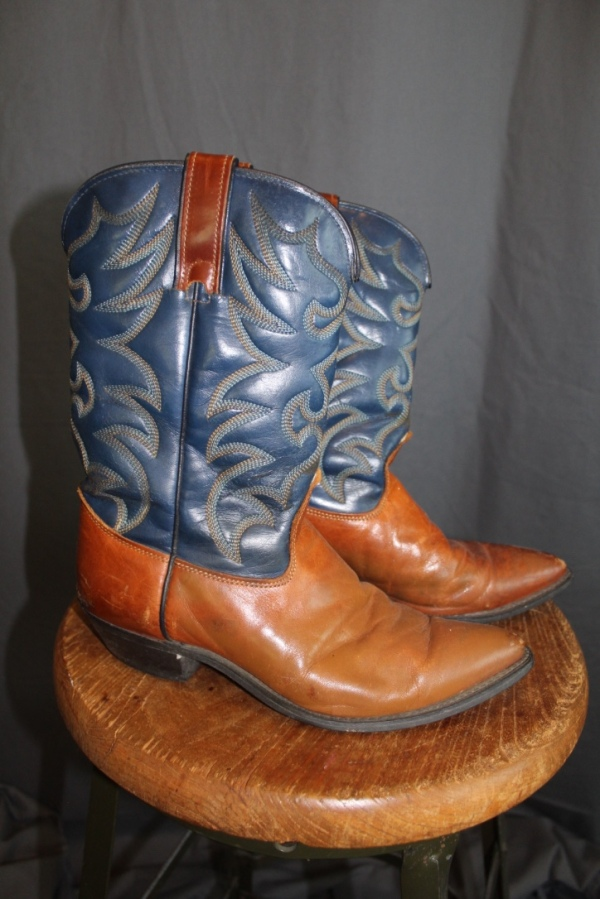 Blue and Brown Ladies Boots