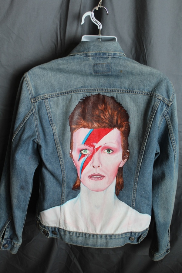 Vintage Hand Painted levis Jacket - David Bowie