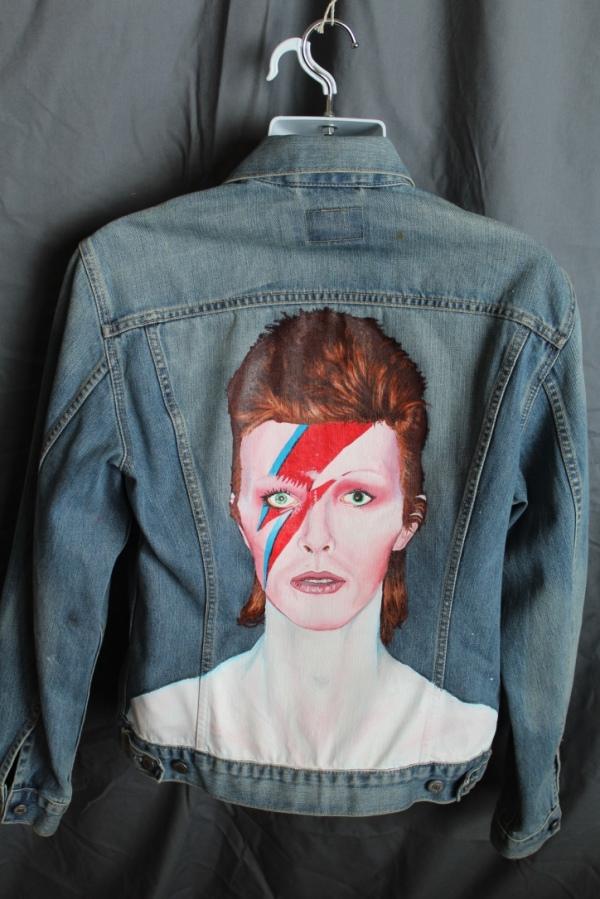 Vintage Hand Painted levis Jacket - David Bowie