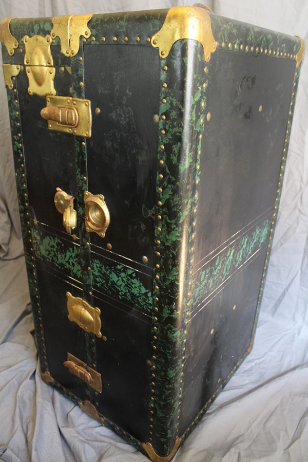 1930's - 40's Elaborate Steamer Trunk
