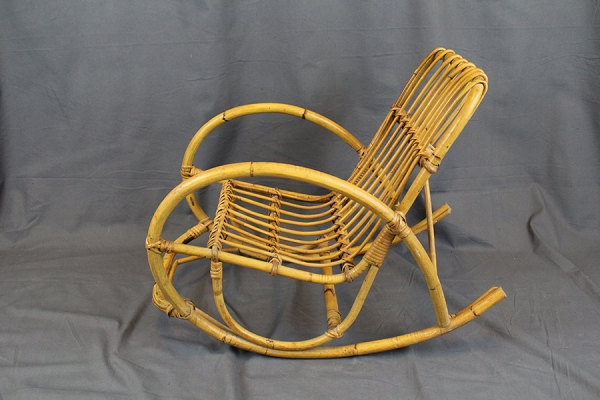 Vintage Kids Wicker Rocking Chair