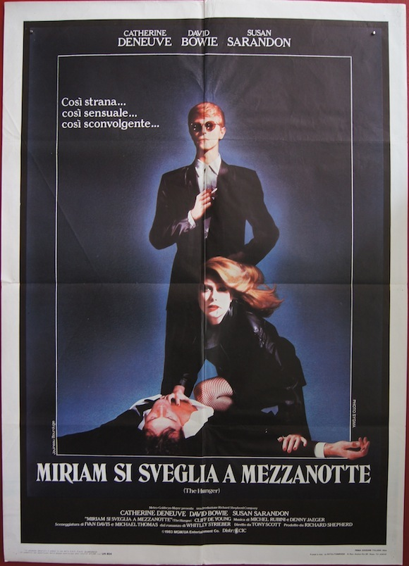 "The Hunger - David Bowie Italian 1-Sheet 33"" x 55"""