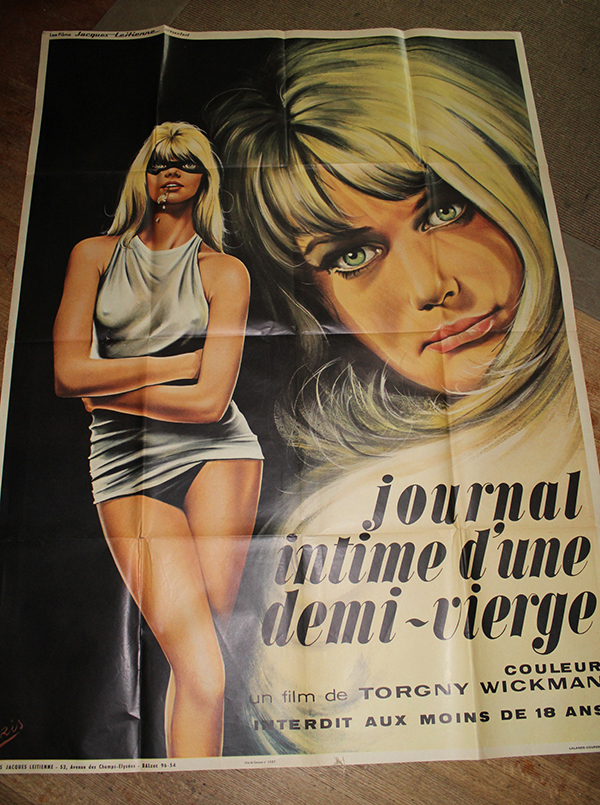 "Journal of a Semi Virgin - French 1 Panel 47"" x 63"" $75"