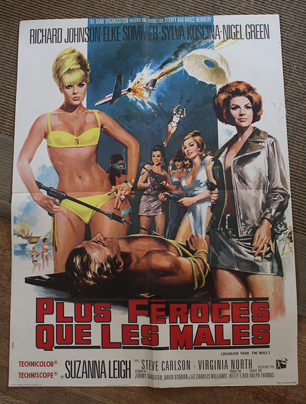 "Deadlier Than the MAle - Elke Sommer  French Moyenne 23"" x 31"" $125"