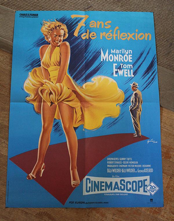 """& Year Itch - Marilyn Monroe  French Moyenne 23"""" x 31"""" $300"""