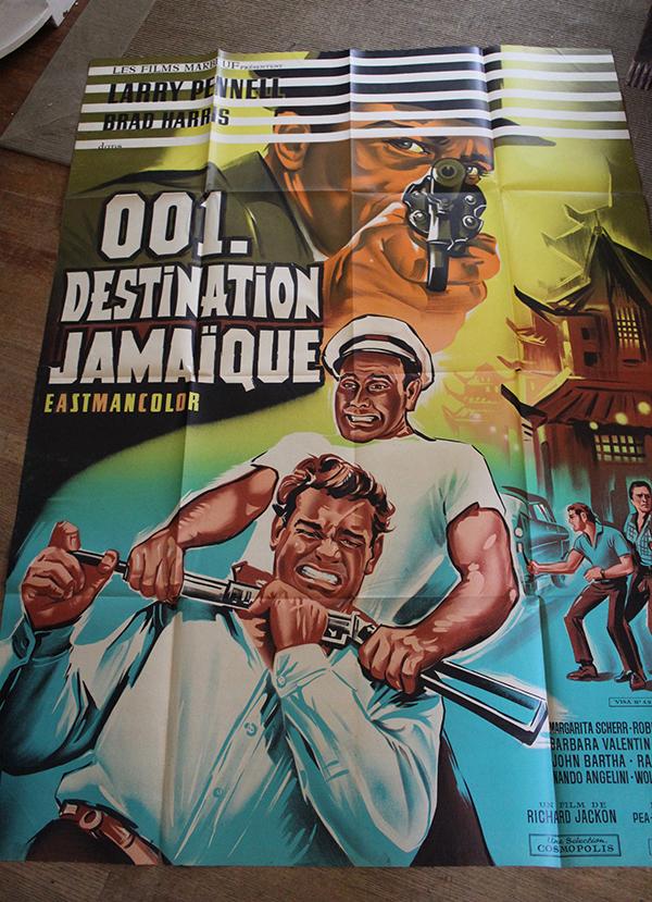 "001, Destination Jamaica - French 1 Panel 47"" x 63"" $100"