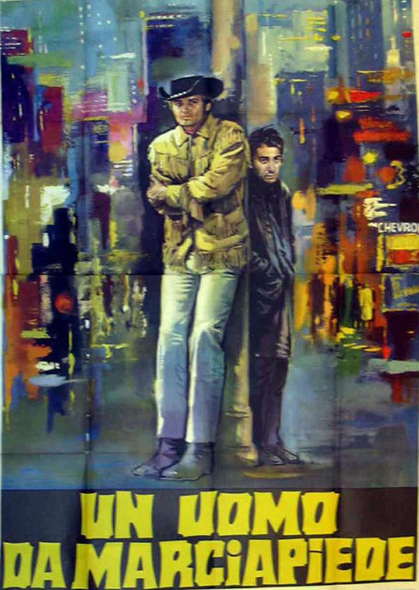 """Midnight Cowboy - John Voight & Dustin Hoffman - Italian 4 Panel - 55"""" x 78""""  $150"""