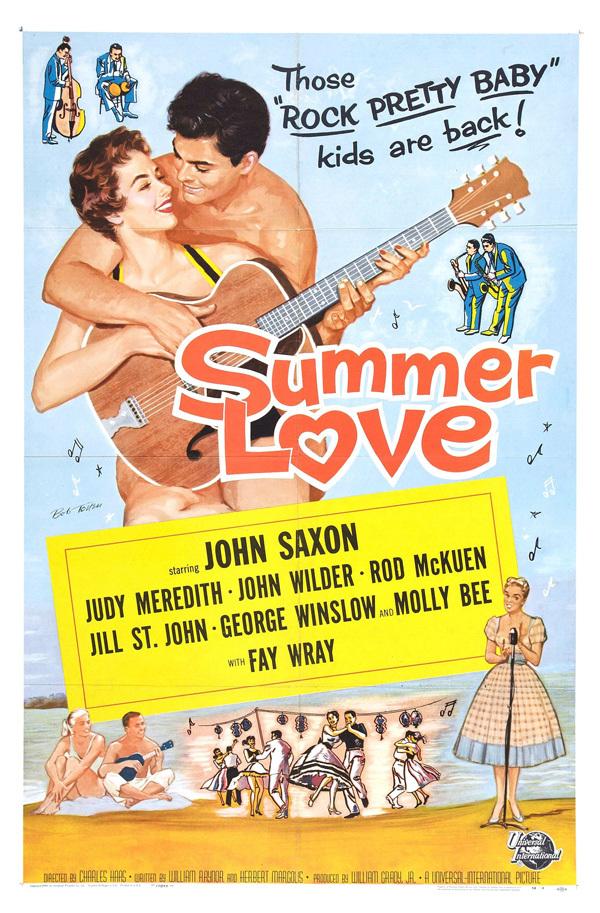 """Summer Love - John Saxon - US  27"""" x 41"""" on linen"""