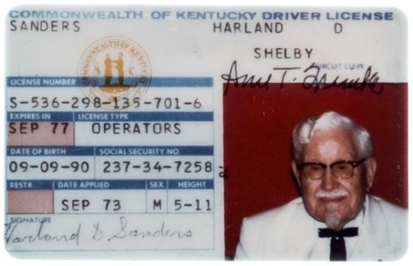 Harland Sanders - Kentucky Fried Chicken