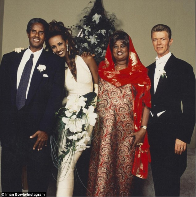 David Bowie, Iman and her Somali parents